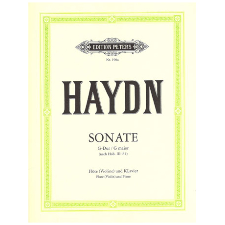 Haydn, J.: Violinsonate G-Dur nach Hob. III:81