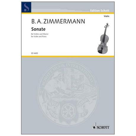 Zimmermann, B. A.: Violinsonate