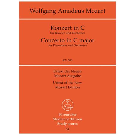Mozart, W. A.: Klavierkonzert C-Dur KV 503 – Konzert für Klavier und Orchester