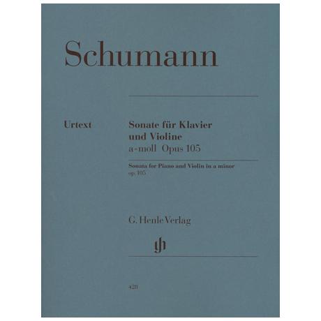 Schumann, R.: Violinsonate a-Moll Op. 105 Urtext