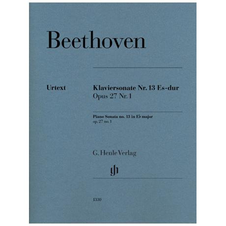 Beethoven, L. v.: Klaviersonate Nr. 13 Op. 27 Nr. 1 Es-Dur