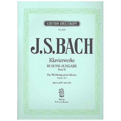 Bach, J. S.: Das Wohltemperierte Klavier 2. Teil Heft IV BWV 889-893