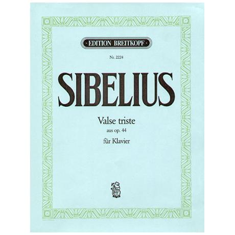 Sibelius, J.: Valse triste aus op. 44. Ausgabe für Klavier