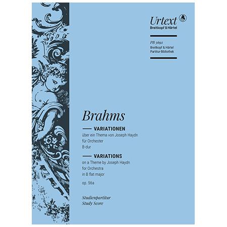 Brahms, J.: Variationen über ein Thema von Joseph Haydn B-Dur Op. 56a