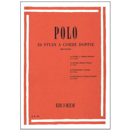 Polo, Enrico: 30 Doppelgriff-Etüden für Violine