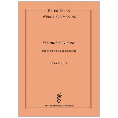 Taban, P.: 5 Duette Op. 11/4