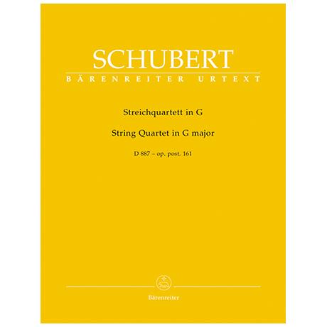 Schubert, Franz: Streichquartett G-Dur D887, op. post. 161