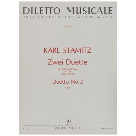 Stamitz, C.: 2 Duette Op.10 Nr.2 A-Dur