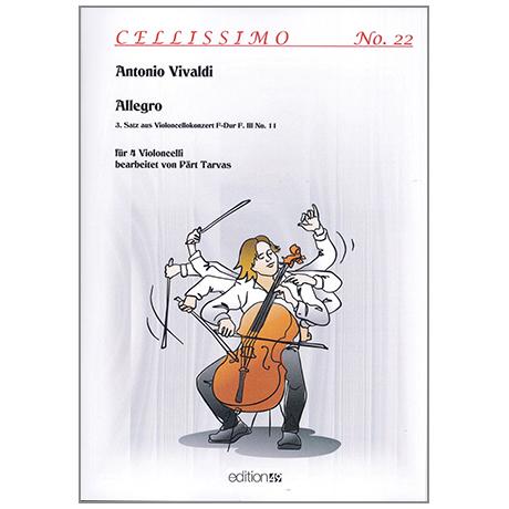 Vivaldi, A.: Allegro – 3. Satz aus dem Cellokonzert F-Dur