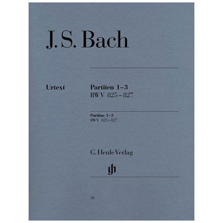 Bach, J. S.: Partiten 1-3 B-Dur, c-Moll, a-Moll BWV 825-827