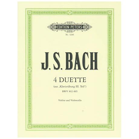 Bach, J. S.: 4 Duette BWV 802-805