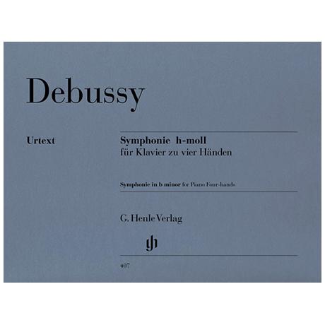 Debussy, C.: Symphonie h-Moll zu 4 Händen