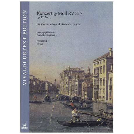Vivaldi, A.: Konzert g-Moll RV 317 Op. 12/1