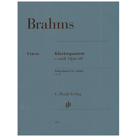 Brahms, J.: Klavierquartett c-Moll, Op. 60 Urtext