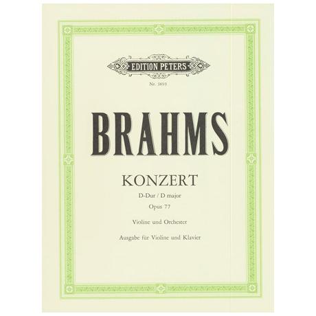 Brahms, J.: Violinkonzert D-Dur, op. 77 mit Kadenz