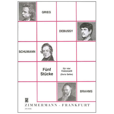 Grieg, E./Debussy, C./Schumann, R./Brahms, J.: 5 Stücke