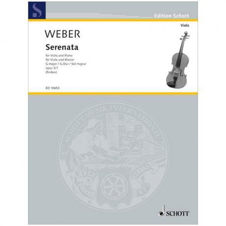 Weber, C. M. v.: Serenata Op. 3/1 G-Dur