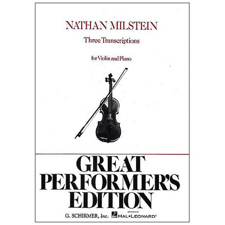 Milstein, N.: 3 Transcriptions