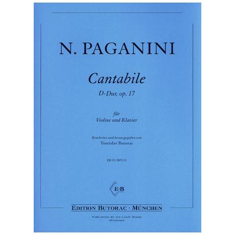 Paganini, N.: Cantabile Op. 17 D-Dur