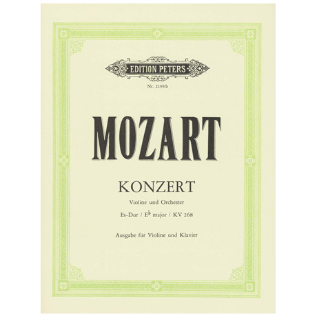 Mozart, W. A.: Violinkonzert Nr. 6 KV 268 Es-Dur