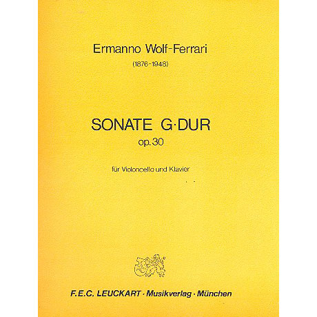 Wolf-Ferrari, E.: Sonate G-Dur Op.30