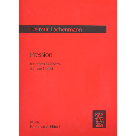 Lachenmann, H.: Pression für einen Cellisten