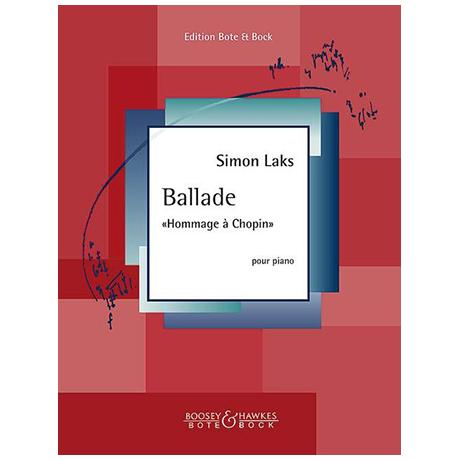 Laks, S.: Ballade »Hommage à Chopin«