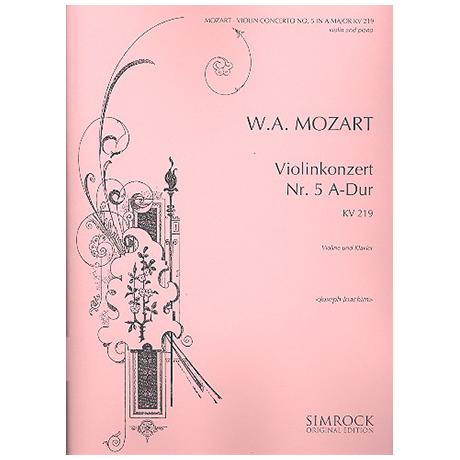 Mozart, W.A.: Konzert A-Dur Nr.5 KV219