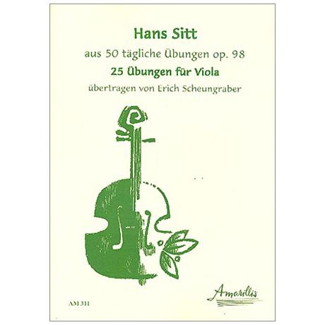 Sitt, H.: 25 Übungen für Viola