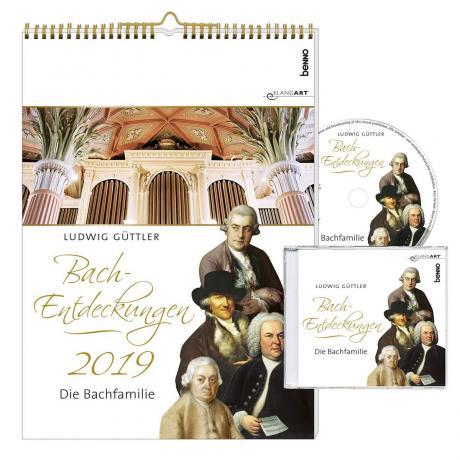 Wandkalender »Bach-Entdeckungen 2019« (+CD)