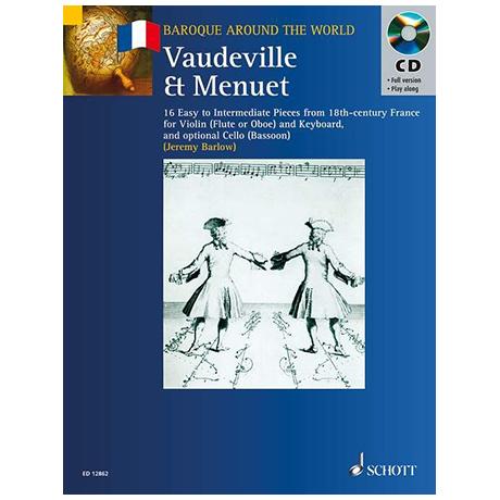 Vaudeville & Menuet (+ CD) – 16 Stücke für Violine