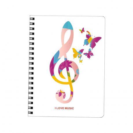 Ring-Notizbuch music Violinschlüssel