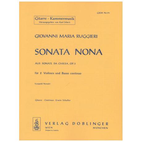 Ruggieri, G.M.: Sonata nona d-Moll Op.3