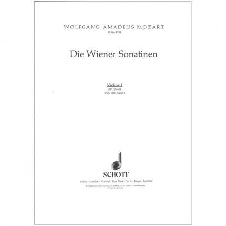 Mozart, W. A.: Die Wiener Sonatinen – Violine 1