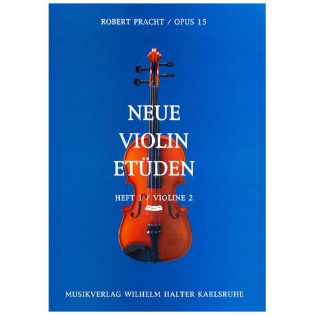 Pracht, R.: Neue Violin-Etüden Op. 15 Band 1 – Begleitstimme