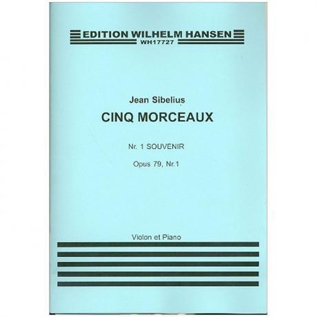 Sibelius, J.: Aus »6 Morceaux« Nr. 1 Souvenir Op. 79/1 (1915)