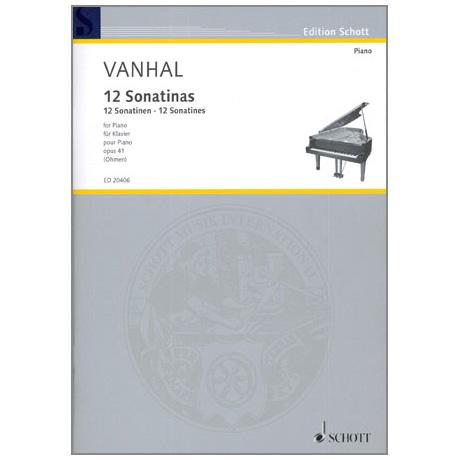 Vanhal, J.B.: 12 Easy and progressive Sonatinas