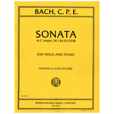 Bach, C.Ph.E.: Sonate in C-Dur W.136