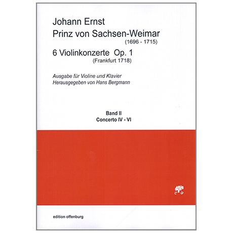 Prinz von Sachsen-Weimar, J. E.: 6 Violinkonzerte Op. 1 Band 2