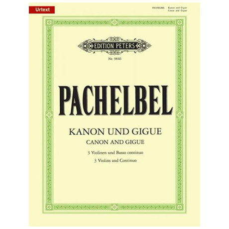 Pachelbel, J.: Kanon & Gigue - Urtext