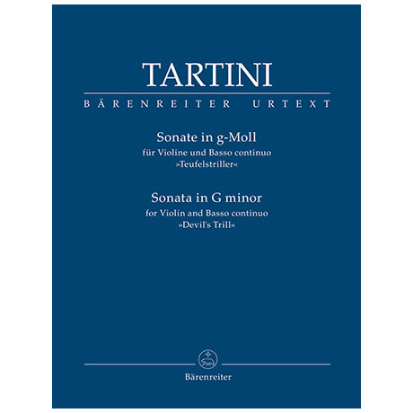Tartini, G.: Sonate für Violine und Basso continuo g-Moll »Teufelstriller«