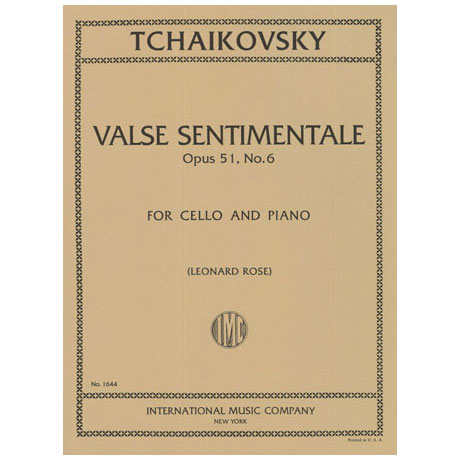 Tschaikowski, P.I.: Valse sentimentale Op.51,6