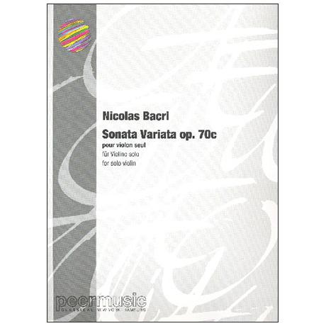 Bacri, N.: Sonata Variata Op. 70c