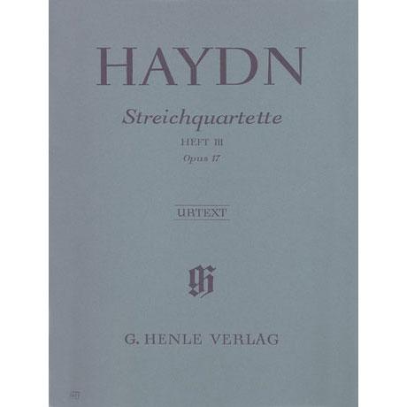 Haydn, J.: Streichquartette Heft 3: Op. 17/1-6 Urtext