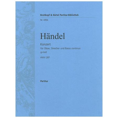 Händel, G. F.: Oboenkonzert Nr. 3 g-Moll HWV 287