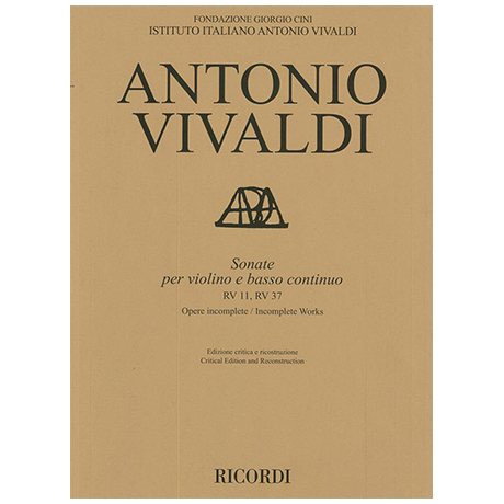 Vivaldi, A.: Violinsonaten RV 11, RV 37