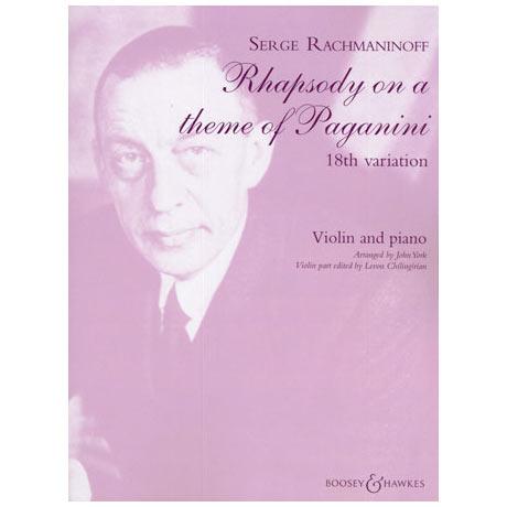 Rachmaninow, S.: Rhapsodie über ein Thema von Paganini - Variation Nr. 18