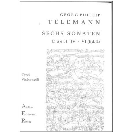 Telemann, G.Ph.: Sechs Duette (Sonaten) Bd. 2, Sonate IV bis VI