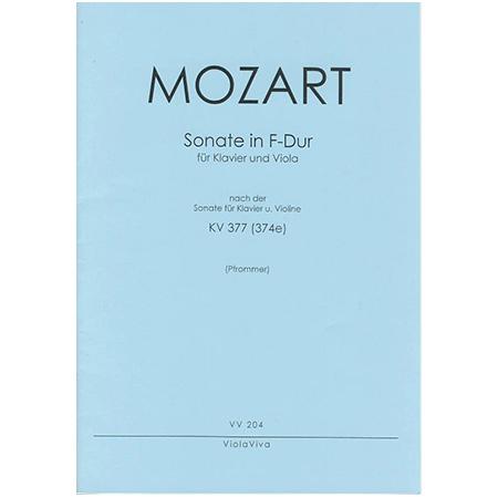 Mozart, W. A.: Violasonate F-Dur nach KV 377