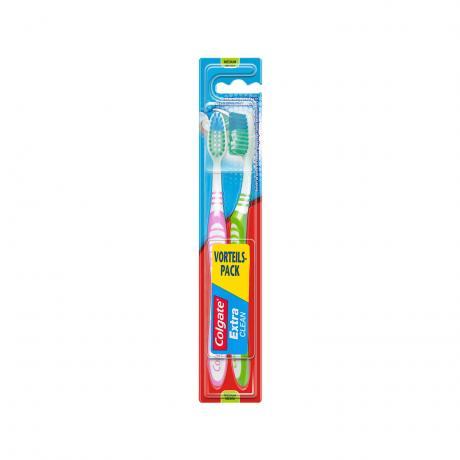 Zahnbürste COLGATE 2er Extra Clean medium